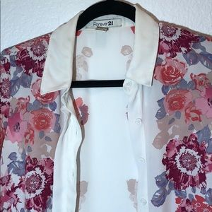 Forever 21 floral blouse small